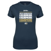Ladies Syntrel Performance Navy Tee-Big West Mens Basketball Tournament Champions