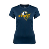 Ladies Syntrel Performance Navy Tee-Go Ags Logo