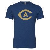 Next Level Vintage Navy Tri Blend Crew-Secondary Athletics Mark