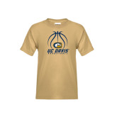 Youth Khaki Gold T Shirt-Basketball Stacked