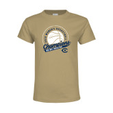 Youth Khaki Gold T Shirt-2019 Mens Basketball Big West Champions