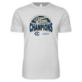 Next Level SoftStyle White T Shirt-UC Davis 2021 Womens Basketball 5X Regular Season Champions