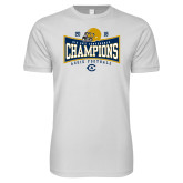Next Level SoftStyle White T Shirt-2018 Football Conference Champions