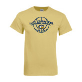 Champion Vegas Gold T Shirt-Basketball Arched