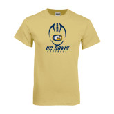 Champion Vegas Gold T Shirt-Football Vertical