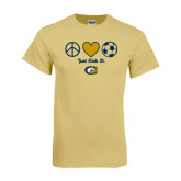 Champion Vegas Gold T Shirt-Soccerball Just Kick It
