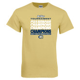 Champion Vegas Gold T Shirt-Big West Mens Basketball Tournament Champions