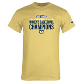 Champion Vegas Gold T Shirt-2018 Regular Season Womens Basketball Champions