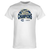 White T Shirt-UC Davis 2021 Womens Basketball 5X Regular Season Champions