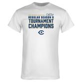 White T Shirt-UC Davis 2021 Womens Basketball Reg Season & Tournament Champs