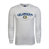 White Long Sleeve T Shirt-Basketball Arched