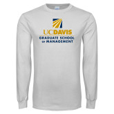 White Long Sleeve T Shirt-Graduate School of Management Stacked