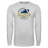 White Long Sleeve T Shirt-2018 Big Sky Conference Champions