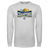 White Long Sleeve T Shirt-2018 Football Conference Champions