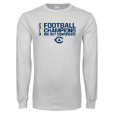 White Long Sleeve T Shirt-2018 Big Sky Football Champions