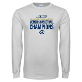 White Long Sleeve T Shirt-2019 Womens Basketball Regular Season Champions