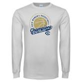 White Long Sleeve T Shirt-2019 Womens Basketball Big West Champions