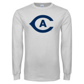 White Long Sleeve T Shirt-Secondary Athletics Mark