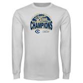 White Long Sleeve T Shirt-UC Davis 2021 Womens Basketball 5X Regular Season Champions