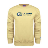 Champion Vegas Gold Fleece Crew-Softball Logo Flat