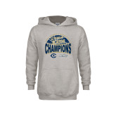 Youth Grey Fleece Hood-UC Davis 2021 Womens Basketball 5X Regular Season Champions