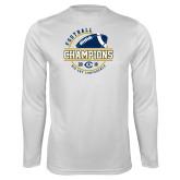 Performance White Longsleeve Shirt-2018 Big Sky Conference Champions