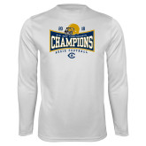 Performance White Longsleeve Shirt-2018 Football Conference Champions