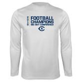 Performance White Longsleeve Shirt-2018 Big Sky Football Champions