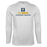 Performance White Longsleeve Shirt-Veterinary Medicine