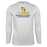 Performance White Longsleeve Shirt-Graduate School of Management Stacked