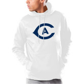 Under Armour White Armour Fleece Hoodie-Secondary Athletics Mark
