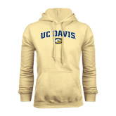 Champion Vegas Gold Fleece Hoodie-Arched UC Davis Logo