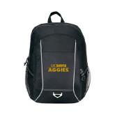Atlas Black Computer Backpack-UC DAVIS Aggies