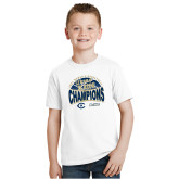 Youth White T Shirt-UC Davis 2021 Womens Basketball 5X Regular Season Champions