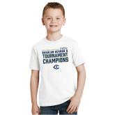 Youth White T Shirt-UC Davis 2021 Womens Basketball Reg Season & Tournament Champs