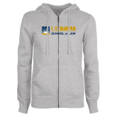 ENZA Ladies Grey Fleece Full Zip Hoodie-School of Law