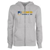 ENZA Ladies Grey Fleece Full Zip Hoodie-School of Law