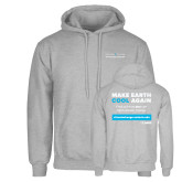 Grey Fleece Hoodie-Science and Climate