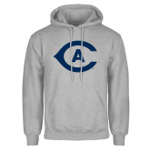 Grey Fleece Hoodie-Secondary Athletics Mark