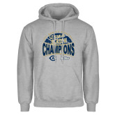 Grey Fleece Hoodie-UC Davis 2021 Womens Basketball 5X Regular Season Champions