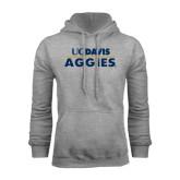 Grey Fleece Hoodie-UC DAVIS Aggies