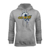 Grey Fleece Hoodie-Go Ags Logo