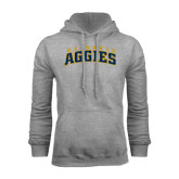 Grey Fleece Hoodie-Arched UC Davis Aggies