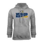Grey Fleece Hoodie-We Bleed