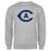 Grey Fleece Crew-Secondary Athletics Mark