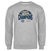 Grey Fleece Crew-UC Davis 2021 Womens Basketball 5X Regular Season Champions