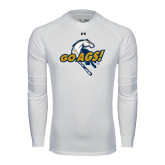 Under Armour White Long Sleeve Tech Tee-Go Ags Logo