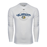 Under Armour White Long Sleeve Tech Tee-Basketball Arched