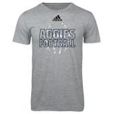 Adidas Sport Grey Logo T Shirt-Adidas Aggies Football Logo