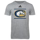Adidas Sport Grey Logo T Shirt-Adidas UC Davis Logo